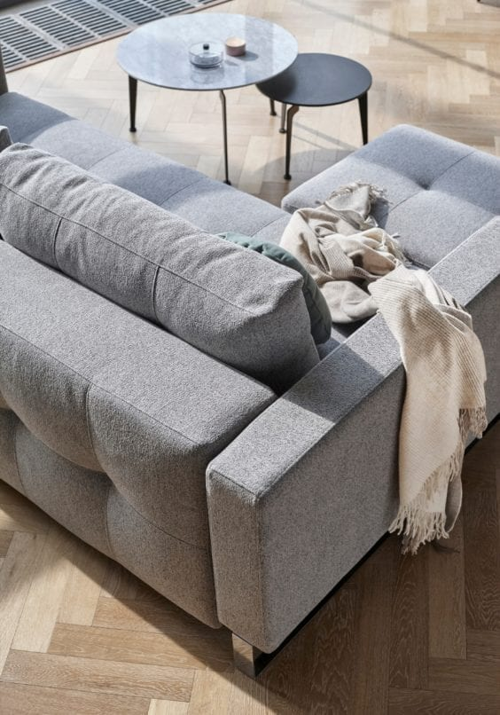 grey sofa and coffee table