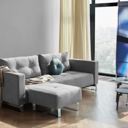 grey sofa in lounge