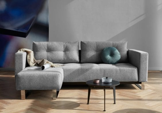 grey sofa and ottoman