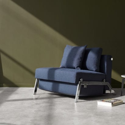 navy fold out couch