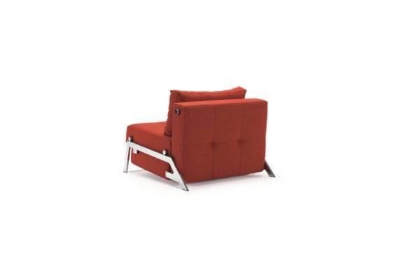 Orange sofa bed