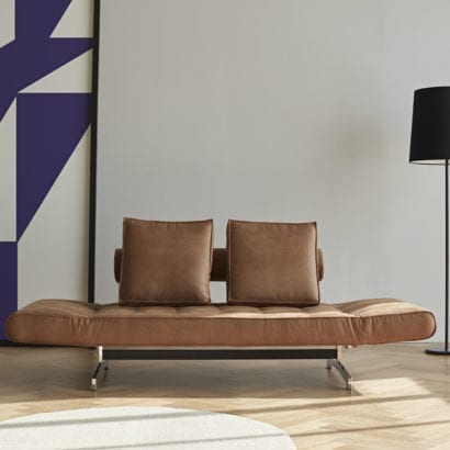 leather day bed