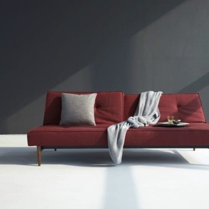maroon sofa bed