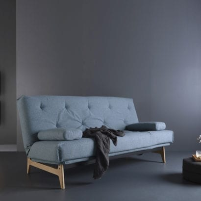 Blue sofa bed
