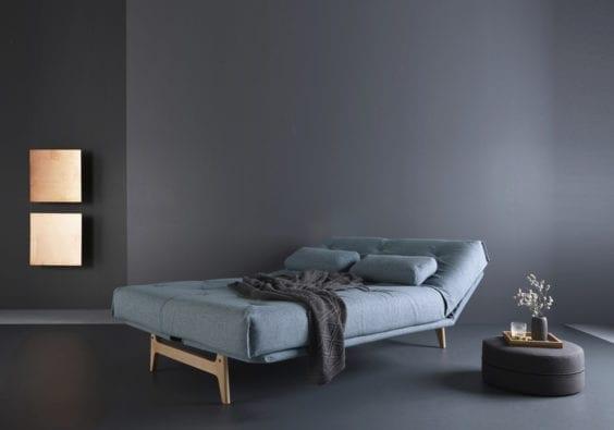 Blue sofa bed