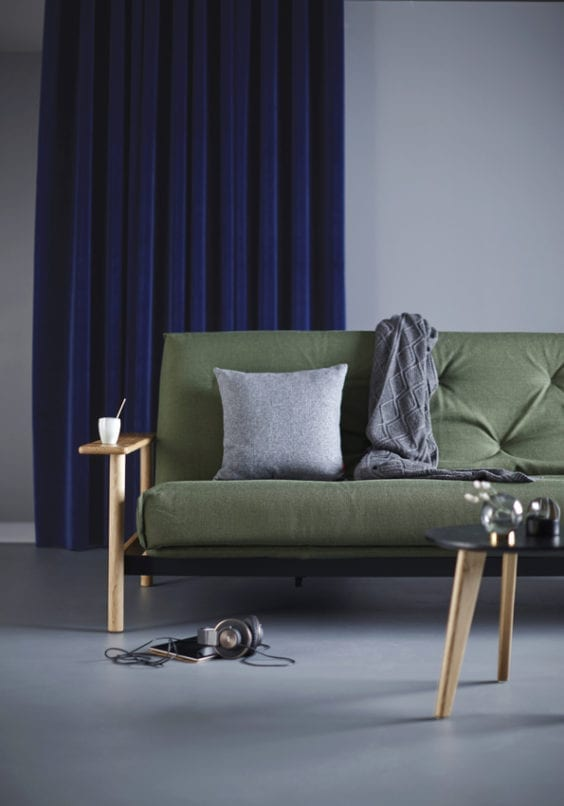 Green sofa bed