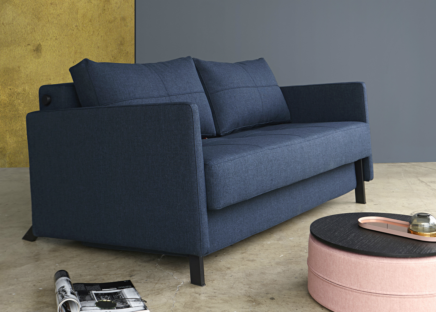 Cubed 140 fabric arms innovation living melbourne for Edit 03 sofa