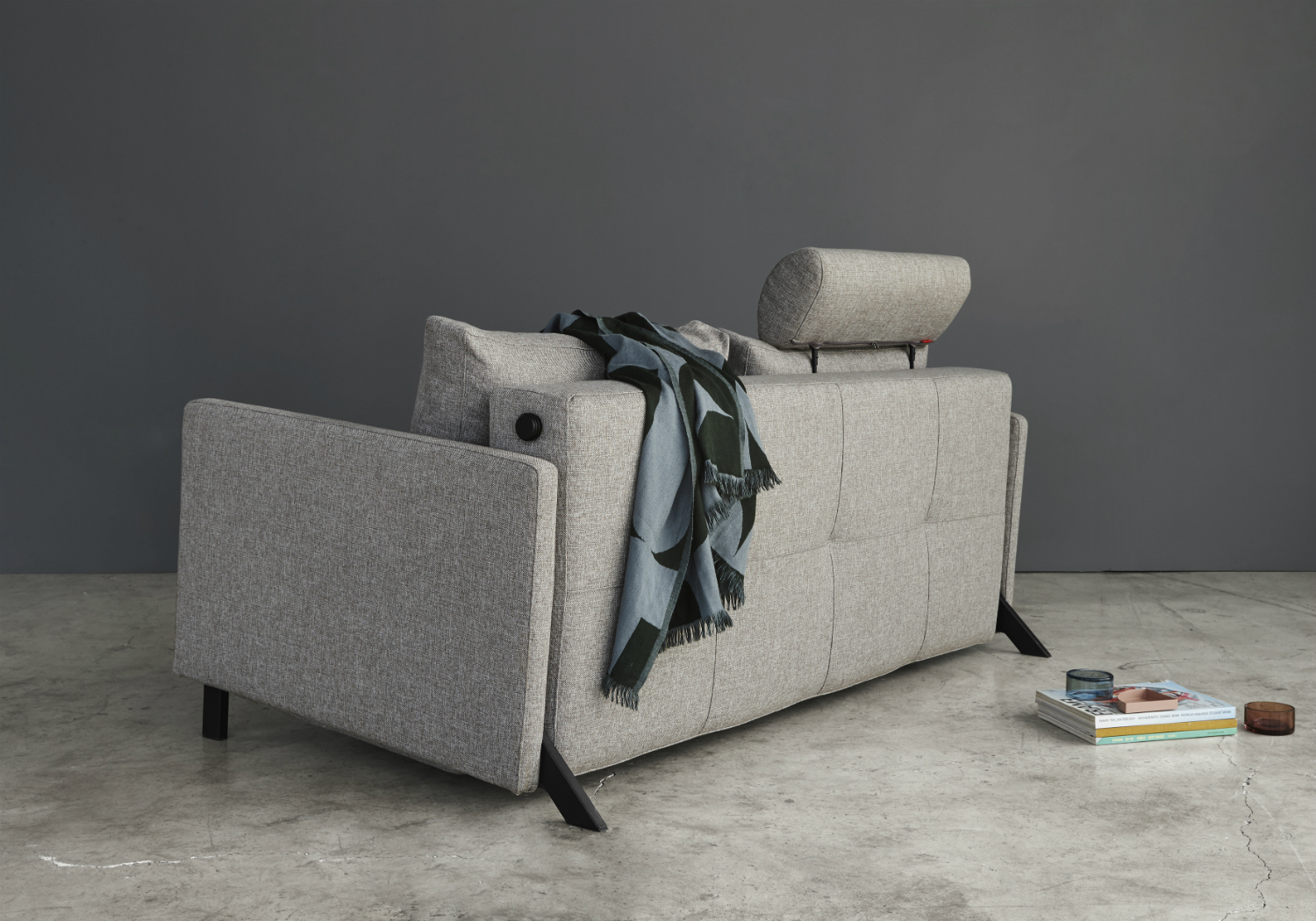 Cubed 160 Fabric Arm Sofa Bed Innovation Living Melbourne