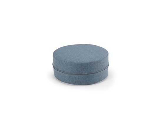 blue storage cushion