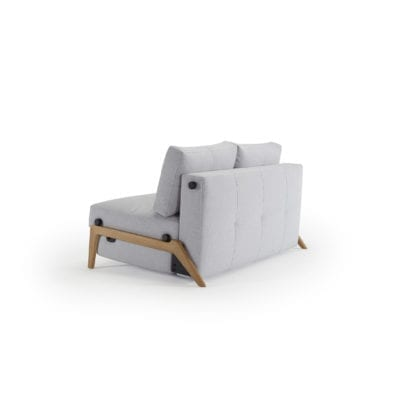 light grey fold out sofa