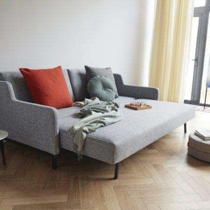 grey fold out sofa