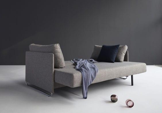 Brown sofa bed