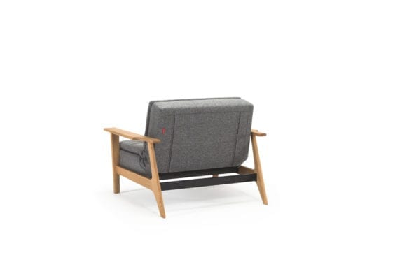 grey fold out chair