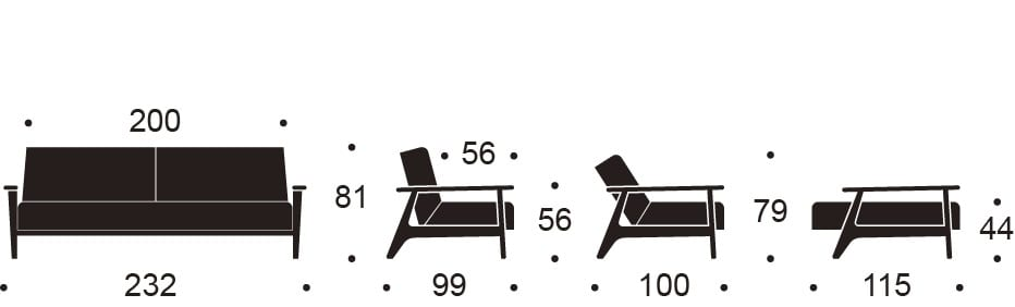 foldout sofa specs
