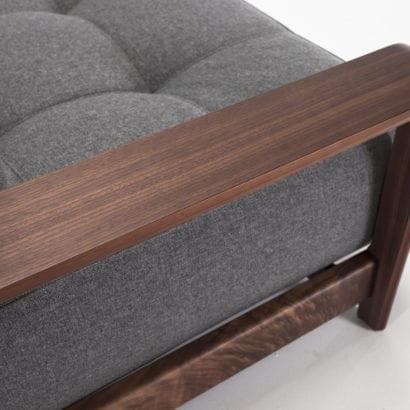 walnut sofa arm