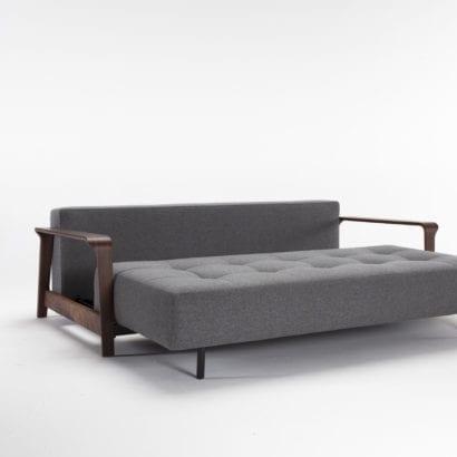 walnut sofa arm rest