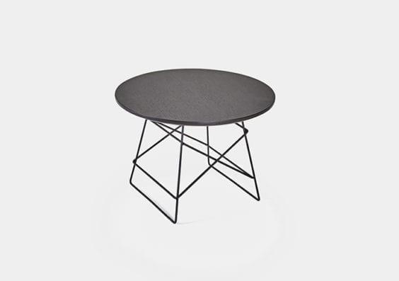 black round table