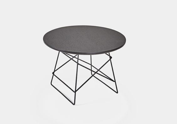 black circular table
