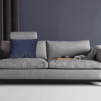 plush grey sofa bed
