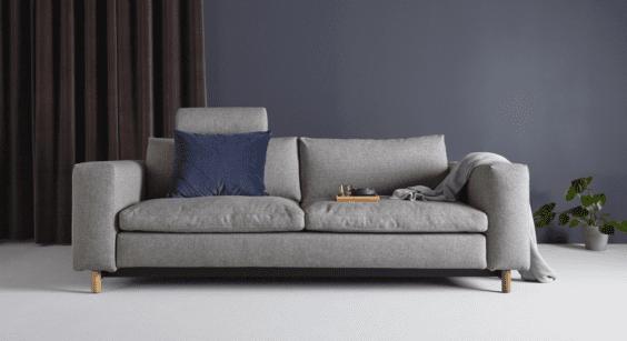 plush grey sofa bed