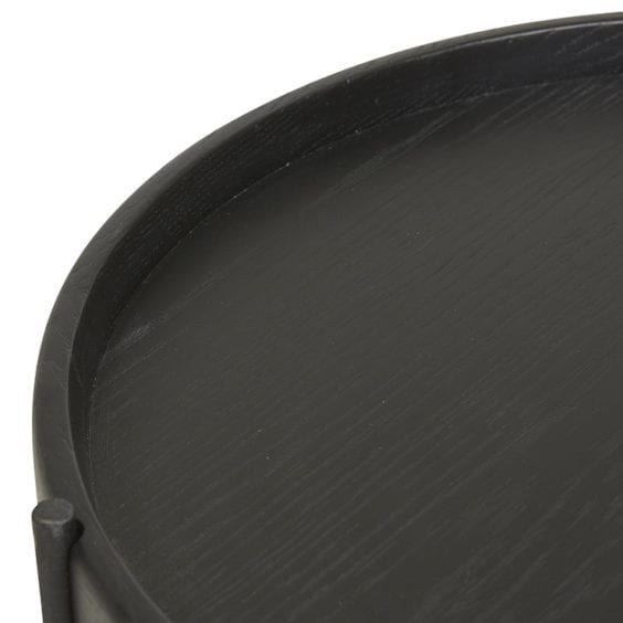 black painted wood shelf
