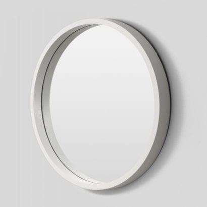 white round mirror