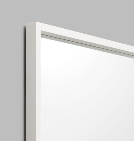 white mirror frame