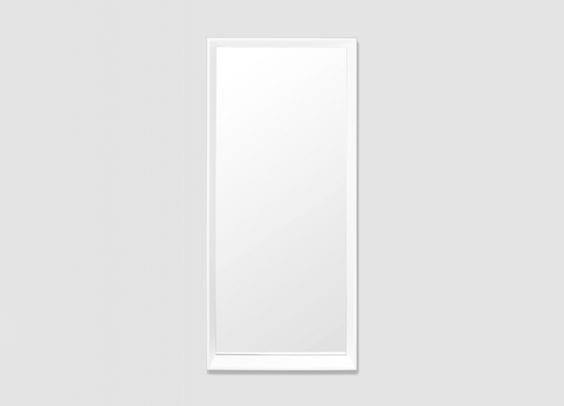 rectangle white mirror