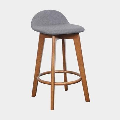 grey wooden stool