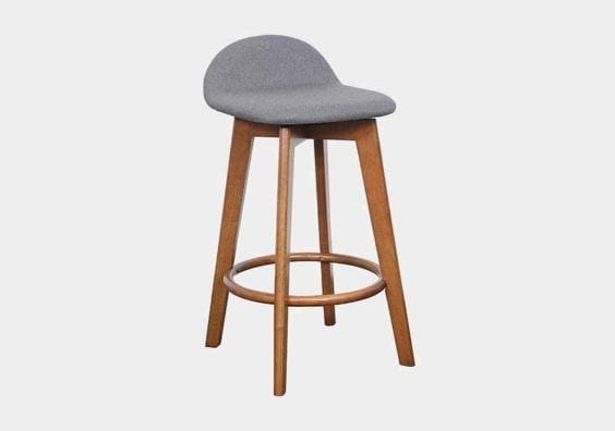 grey wooden stool