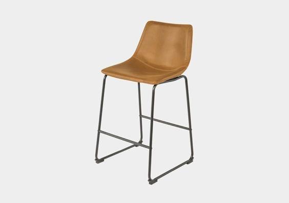 tan leather stool
