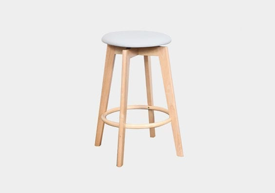 cream wooden stool