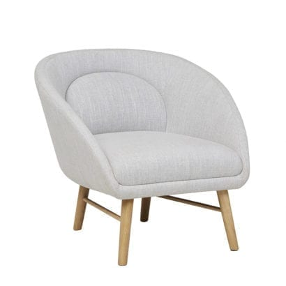 light grey occasional chair