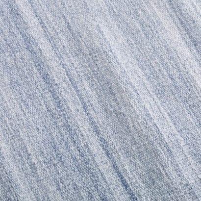 light blue rug