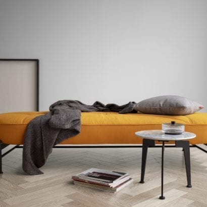yellow daybed