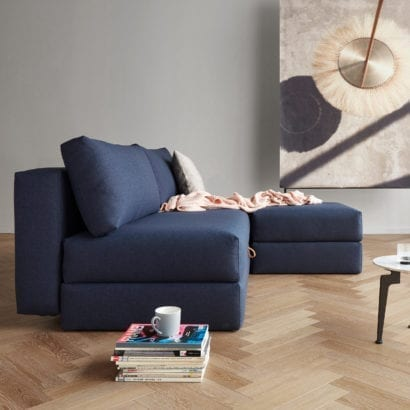 dark blue sofa