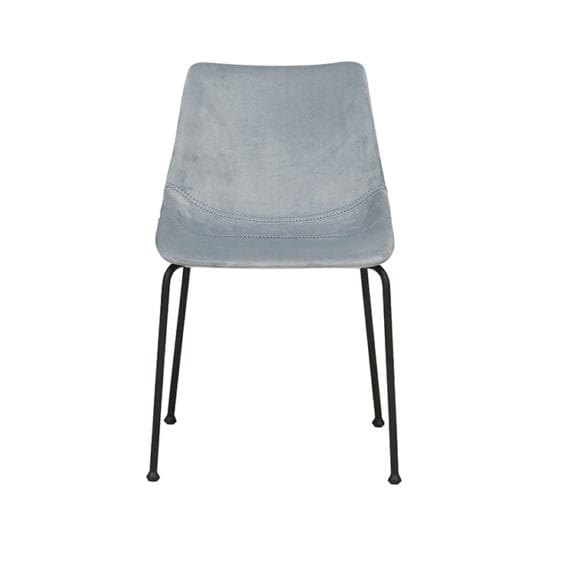 grey padded dining chair