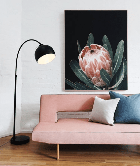 pink sofa and lounge furniture