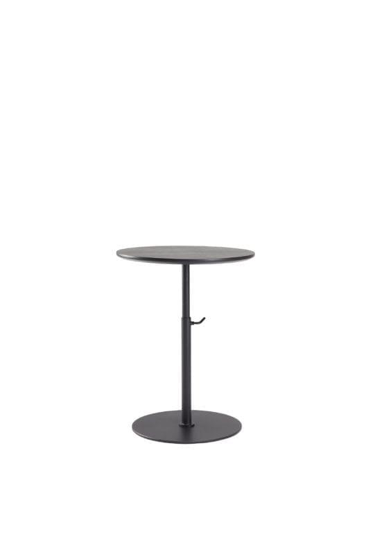 black adjustable side table