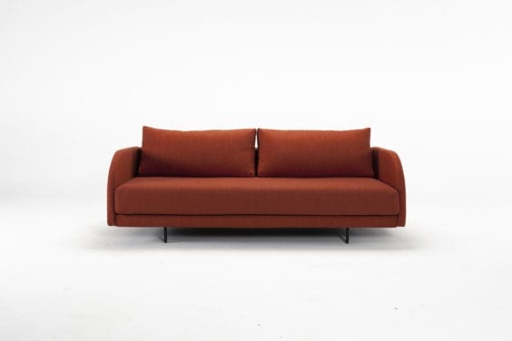 luxury red sofa bed