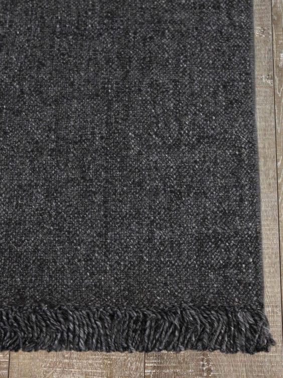 dark grey charcoal rug