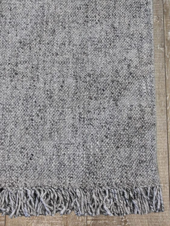 grey tweed rug