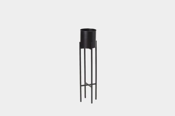 tall black planter pot