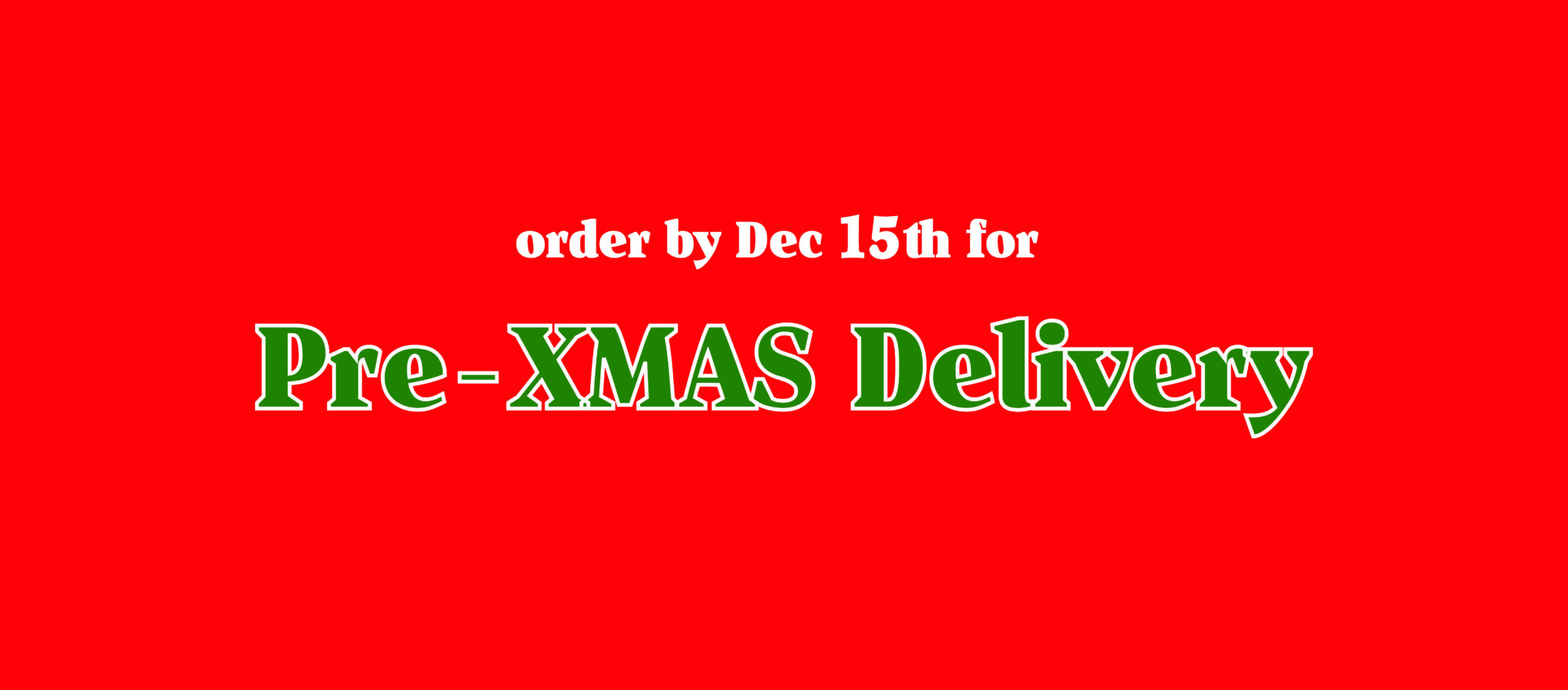 christmas delivery poster